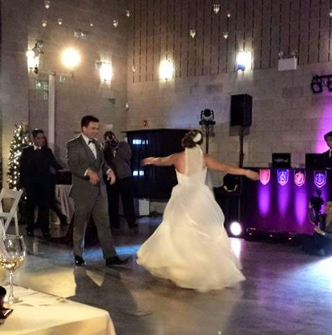 The first dance featuring our Bose L1 system