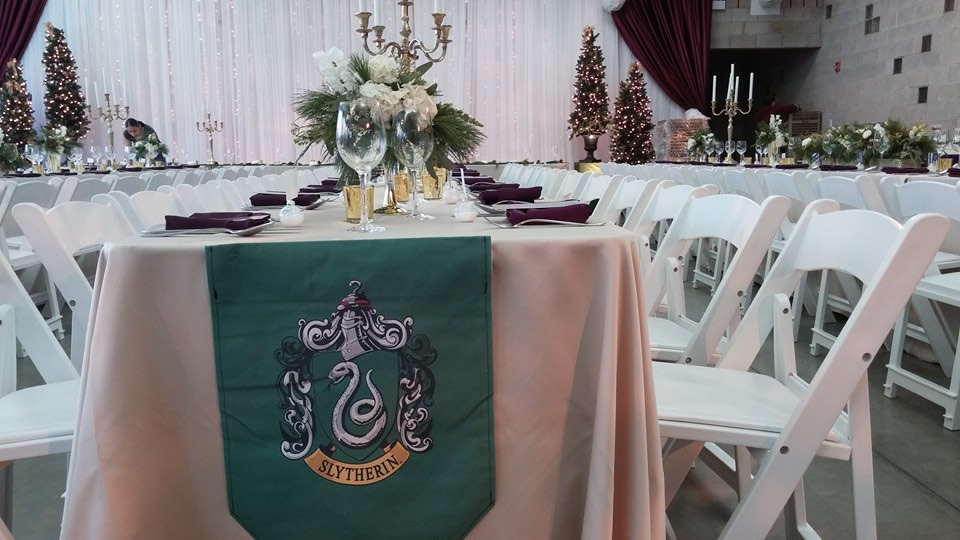 Slytherin house table